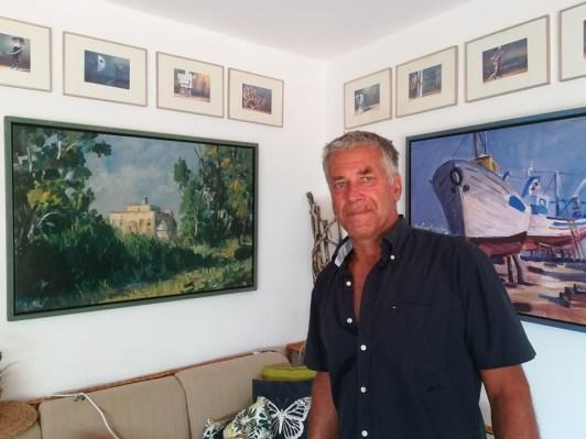 F. Lettl nella casa di Sciale delle Rondinelle